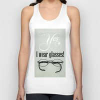 glasses Tank Tops featuring Glasses by Julia Dávila-Lampe