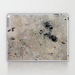 Abstract vintage black gray ivory marble Laptop & iPad Skin