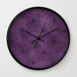 Cobweb Pattern Wall Clock