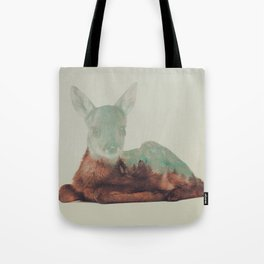Resting Fawn Tote Bag