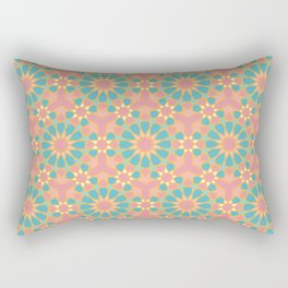 Vintage colors islamic geometric pattern Rectangular Pillow