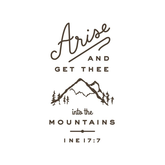 Arise and get thee into the mountains. Duvet Cover