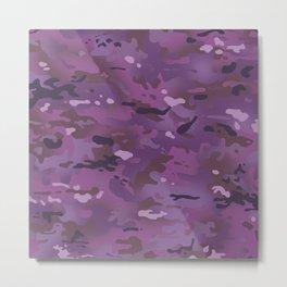 Camouflage: Violet Metal Print