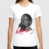 rihanna T-shirts featuring Rihanna by Negrila Mircea Illustrations