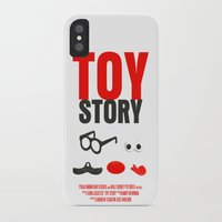 toy story iPhone & iPod Cases featuring Toy Story Movie Poster by FunnyFaceArt