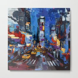 Saturday Night in Times Square Metal Print