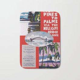 Vintage From Pines to Palms Hellgate Bridge Travel Bath Mat