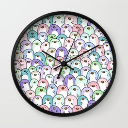 Penguin Snuggles Wall Clock