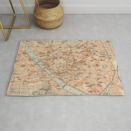 Vintage Map of Florence Italy (1895) Rug