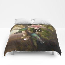 Sparkling Violetear Hummingbirds Comforters