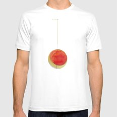 suspended MEDIUM White Mens Fitted Tee
