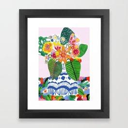 Abstract Flower Bouquet Framed Art Print