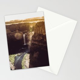 Desert Waterfall Stationery Cards