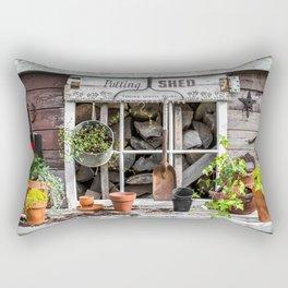 Potting Shed At Work Rectangular Pillow