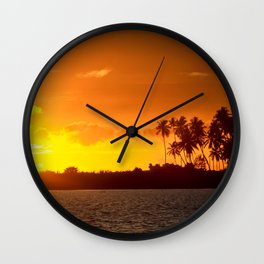 Sunset in the Tropics Wall Clock