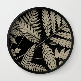 New England Ferns Wall Clock