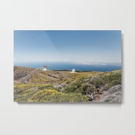 Roque de los Muchachos Astronomical Observatory. La Palma, Canary Islands. Metal Print