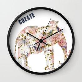 Elephant Create Wall Clock