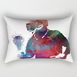 lacrosse sport art #lacrosse #sport Rectangular Pillow