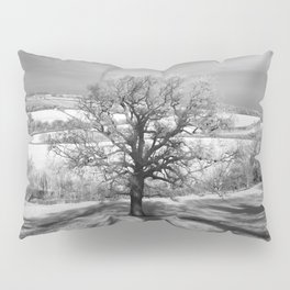 Lone tree over the East Somerset Railway Pillow Sham