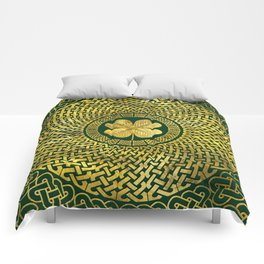 Irish Four-leaf clover with Celtic Knot Comforters