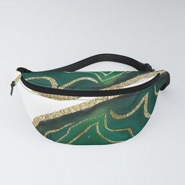 Emerald Agate Gold Glam #1 #gem #decor #art #society6 Fanny Pack