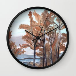 Myrtle Rocks Wall Clock