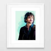 will graham Framed Art Prints featuring Will Graham by The Wayward Daughter
