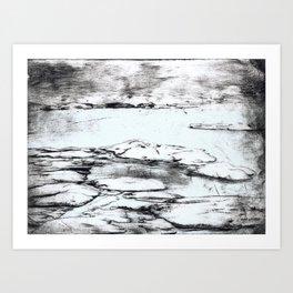 Light blue ice Art Print