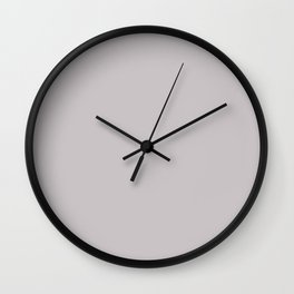 Mindful Moment ~ Light Lilac-gray Wall Clock