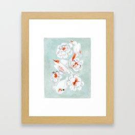 3 oiseaux Framed Art Print
