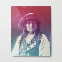 CHIEF JOSH SAN CARLOS APACHES NATIVE AMERICAN Metal Print