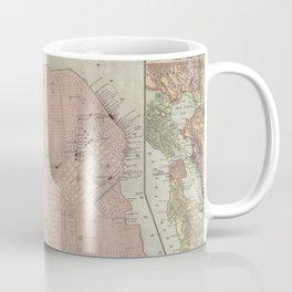 Vintage Map of San Francisco CA (1906) Coffee Mug