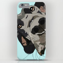 Great Dane In Your Face iPhone Case