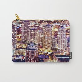 1553 Voyeuristic 1553 Vancouver Cityscape Downtown Yaletown British Columbia Canada Hot Summer Night Carry-All Pouch