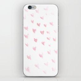 hearts drawing iPhone Skin
