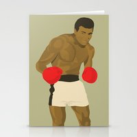 ali gulec Stationery Cards featuring Cool image of a boxer by Studio Drawgood