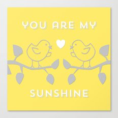 You are my sunshine yellow Canvas Print
