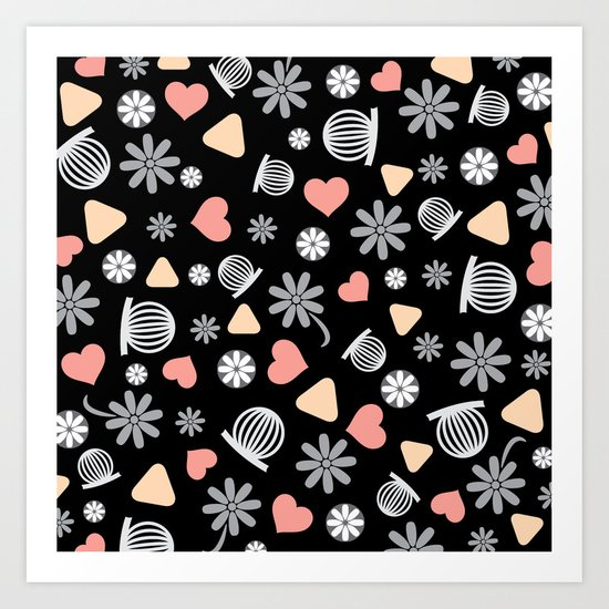 Lovely Pattern VII Art Print