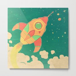 outta this world Metal Print