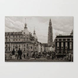 Watching the Cathedral Canvas Print