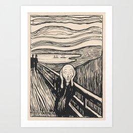The Scream (1895) by Edvard Munch Art Print
