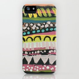 The pattern of my heartbeat iPhone Case