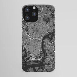 Philadelphia Black Map iPhone Case