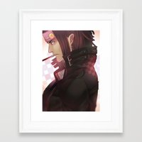dramatical murder Framed Art Prints featuring DRAMAtical Murder: Mink by magemg
