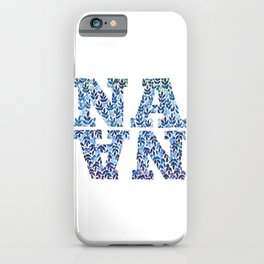 Modern Floral Nana Illustration iPhone Case