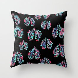 Breathing in the Cold Throw Pillow