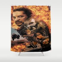 mad max Shower Curtains featuring Mad Max by SB Art Productions