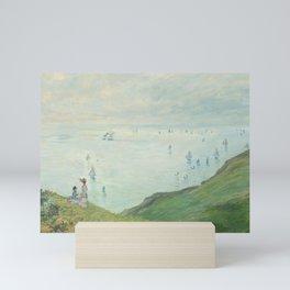 Cliffs at Pourville (1882) by Claude Monet. Mini Art Print
