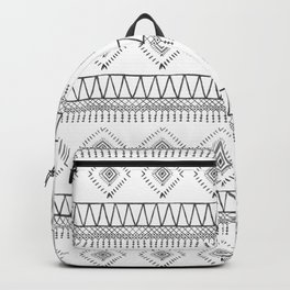 Gray Boho Aztec Backpack